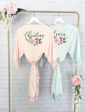 Satin Robes for Bridal Party - Lucky Maiden