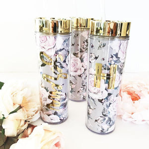 Rose Garden Bridal Party Tumblers - Lucky Maiden
