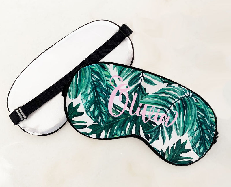 Palm Leaf Personalized Sleep Mask - Lucky Maiden