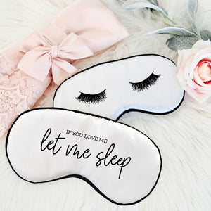 Satin Themed Sleep Mask - Lucky Maiden