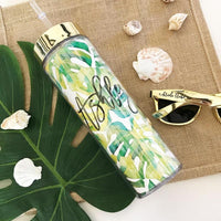 Tropical Beach Tumbler with Straw