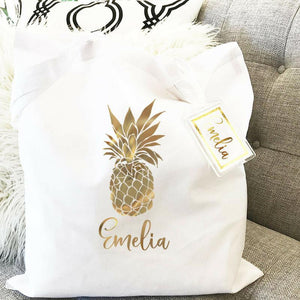 Tropical Theme Canvas Tote Bag - Lucky Maiden