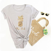 Tropical Theme Tee Shirt for Bridal Party