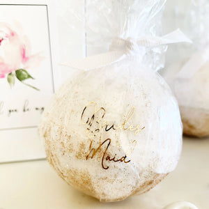 Bridesmaid Proposal Bath Bomb with Gift Box - Lucky Maiden