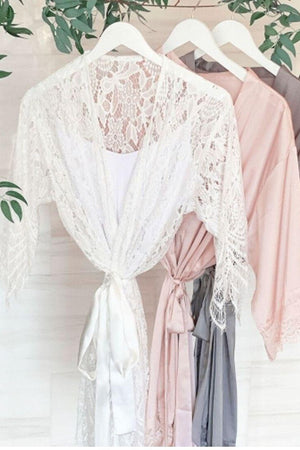 Lace Bride Robe - Lucky Maiden