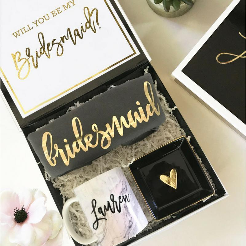 Wedding Gift Ideas For Bride From Bridesmaid: Personalized Bridesmaid Proposal Box