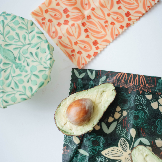 Beeswax food wraps made in Hamilton