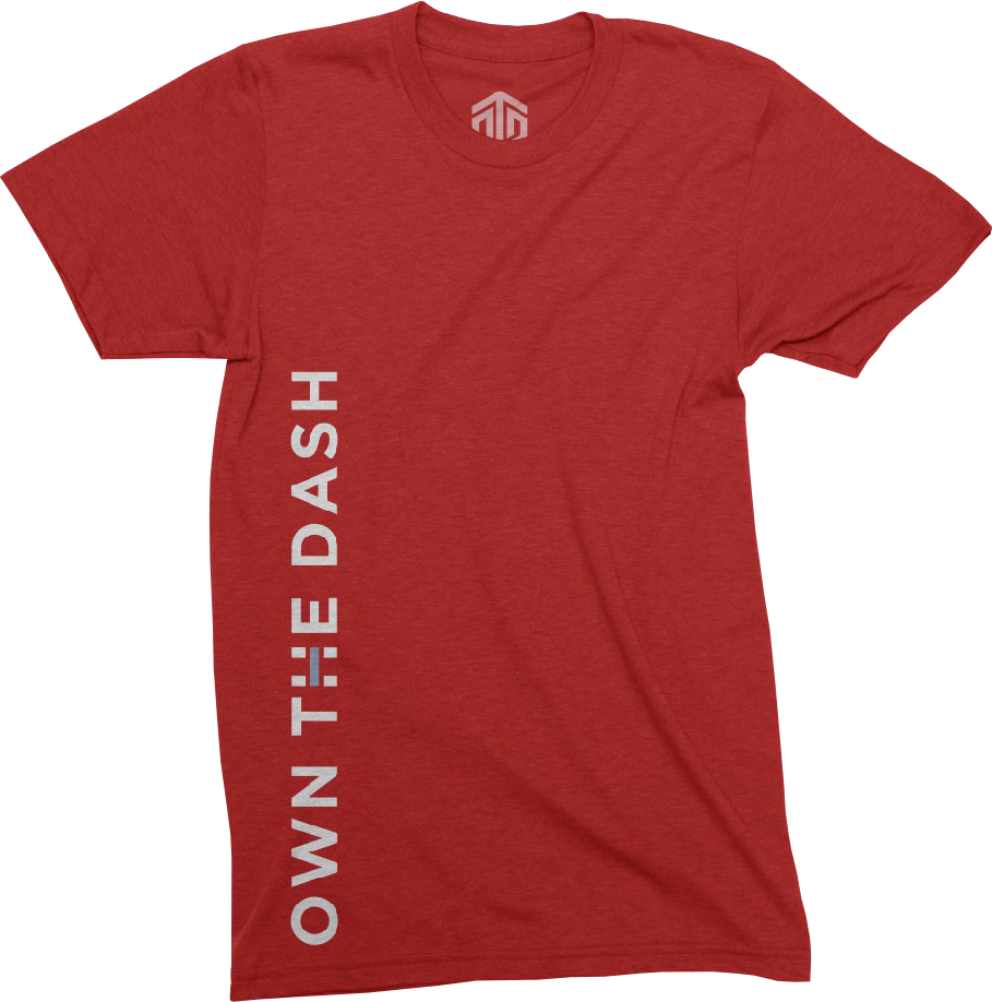own the dash apparel fitness shirt own the dash