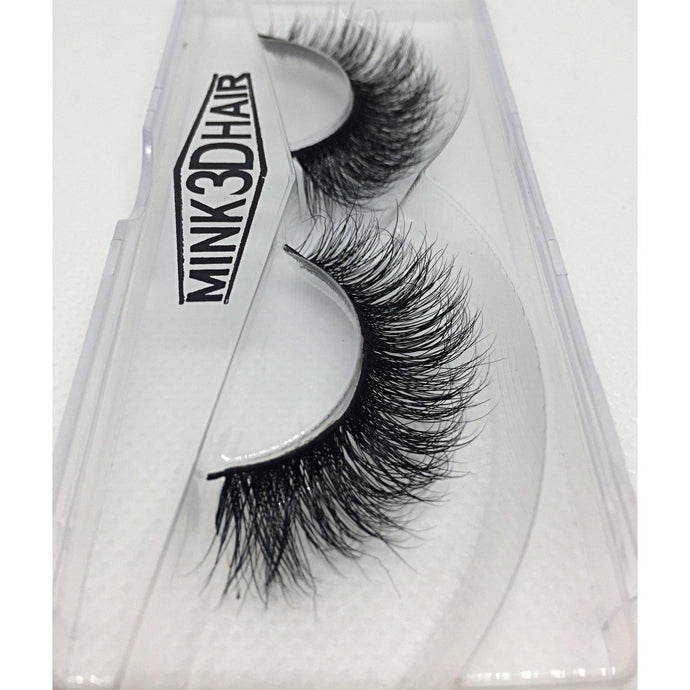 3D mink eyelashes - A09 false eyelashes side view - Dramatic Eyelashes