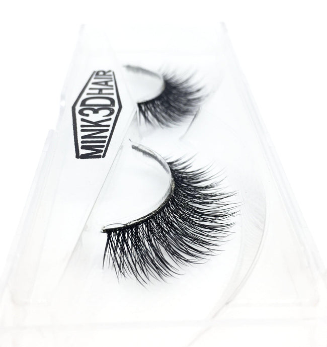 3D Mink Eyelashes - SD03 - Side View - Dramatic Eyelashes