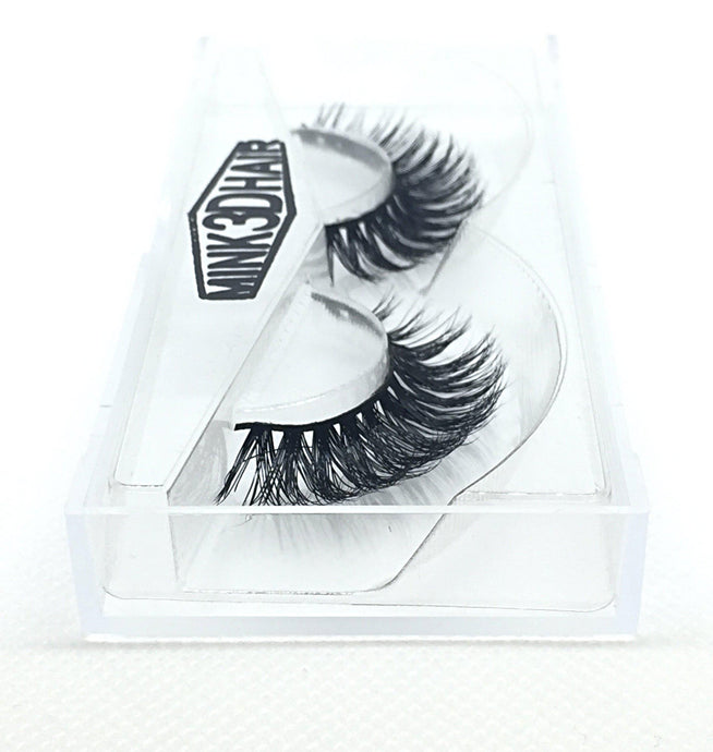 3D Mink Eyelashes - SD05 - Side View - Dramatic Eyelashes