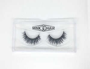 3D Mink Eyelashes - SD06 - Head on view - Dramatic Eyelashes