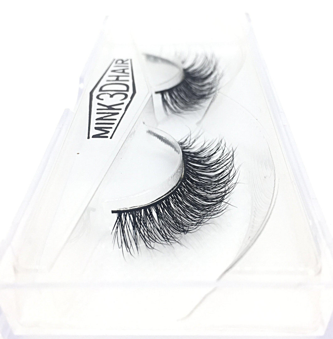 3D Mink Eyelashes - SD06 - Side View - Dramatic Eyelashes