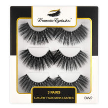 Load image into Gallery viewer, BW2: Multipack (3 Pairs) 3D Luxury Faux Mink Dramatic Eyelashes-Dramatic Eyelashes