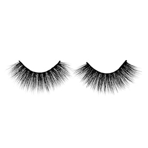 3D Mink Eyelashes - A11. Long Thick Wispy Lashes Front View - Dramatic Eyelashes
