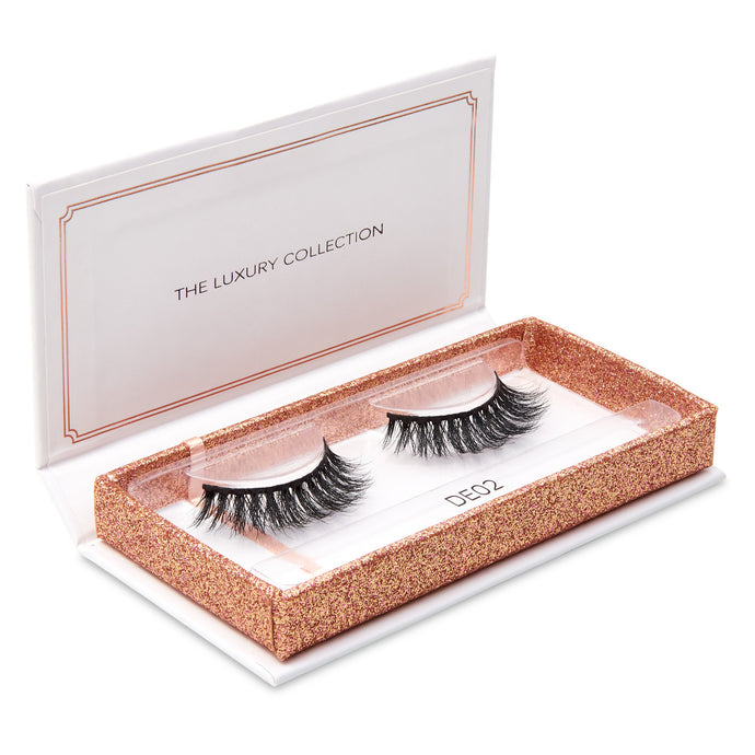 Luxury 3D Mink Eyelashes - DE02-Eyelashes-Dramatic Eyelashes