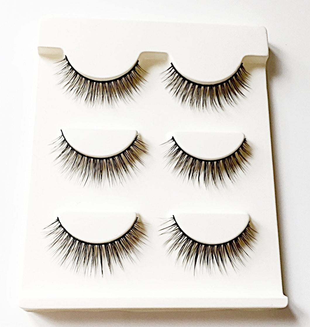 DE04M: Multi-Pack (3 Pairs) of 3D Mink Eyelashes-Eyelashes-Dramatic Eyelashes
