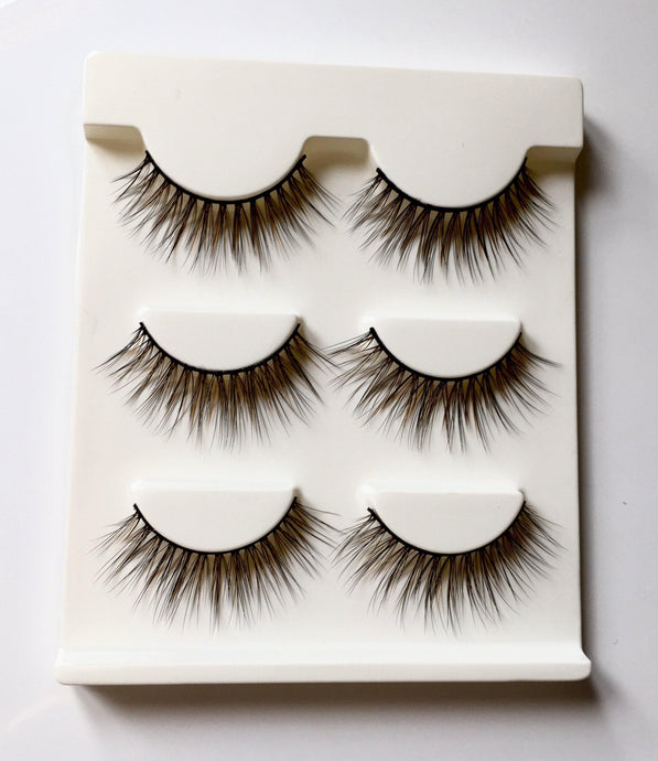 DE15M: Multi-Pack (3 Pairs) of 3D Mink Eyelashes-Eyelashes-Dramatic Eyelashes