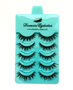 Multi-Pack (5 Pairs) False Black Messy Eyelashes-Eyelashes-Dramatic Eyelashes