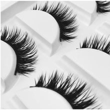 Load image into Gallery viewer, Multi-Pack (5 Pairs) Luxury 3D False Black Eyelashes (Y40)-Eyelashes-Dramatic Eyelashes