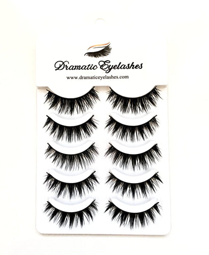 Multi-Pack (5 Pairs) Luxury 3D False Black Eyelashes (Y40)-Eyelashes-Dramatic Eyelashes