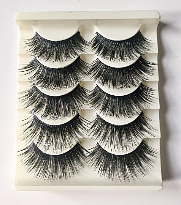 N10: Multi-Pack (5 Pairs) False Dramatic Thick Eyelashes-Eyelashes-Dramatic Eyelashes