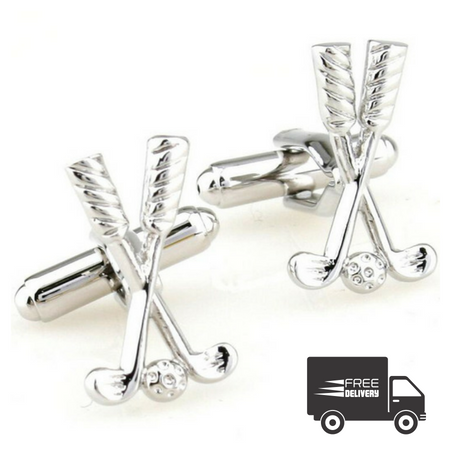 Vintage Golf Clubs Cufflinks