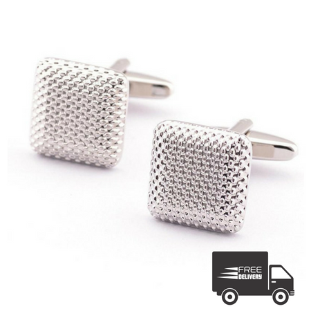 Silver Diamond Cufflinks