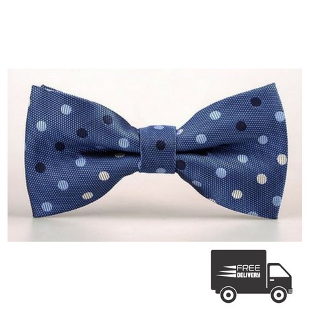 Light Blue Polka Dots Bow Tie