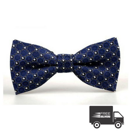 Dark Blue Eye Bow Tie