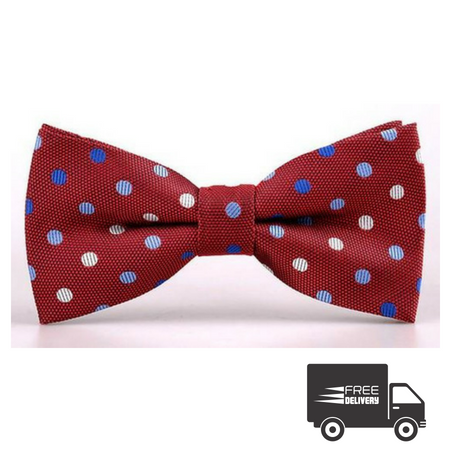 Red Polka Dots Bow Tie