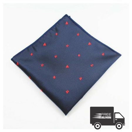 The Four Suits Pocket Square