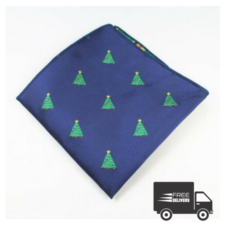 Christmas Trees Pocket Square