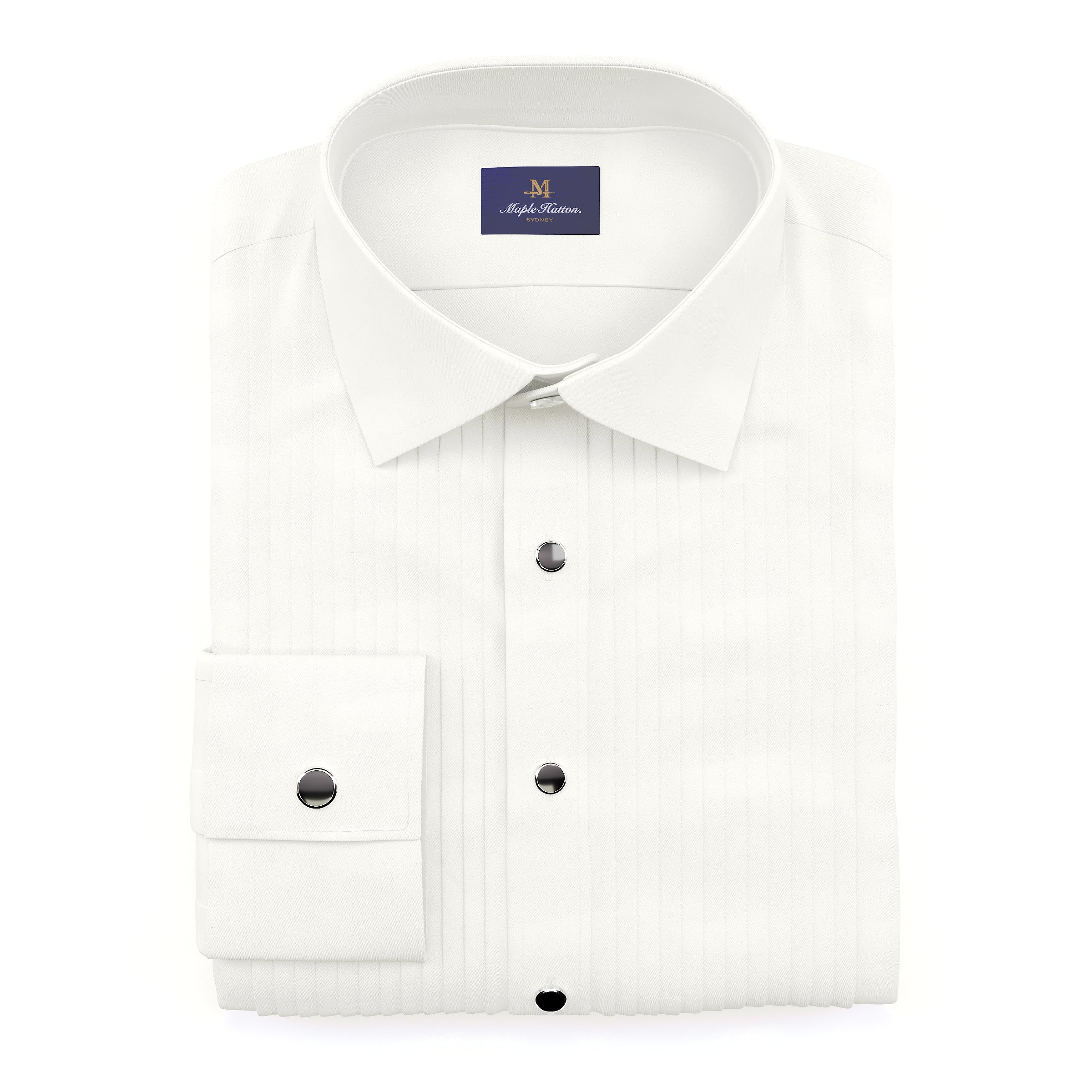 The Royal White Tuxedo Shirt
