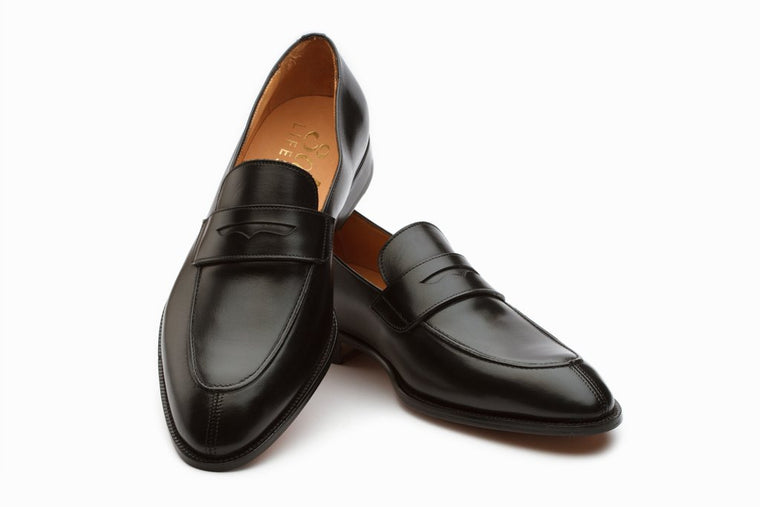 Lopez Leather Penny Loafers - Black