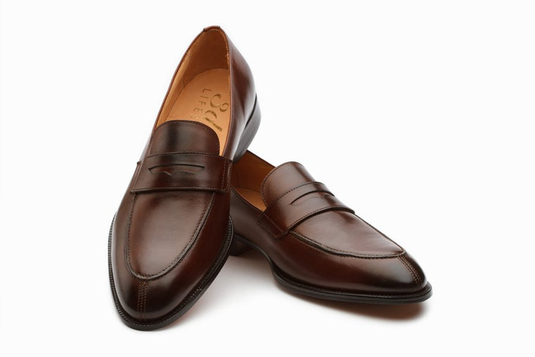 Lopez Leather Penny Loafers - Brown