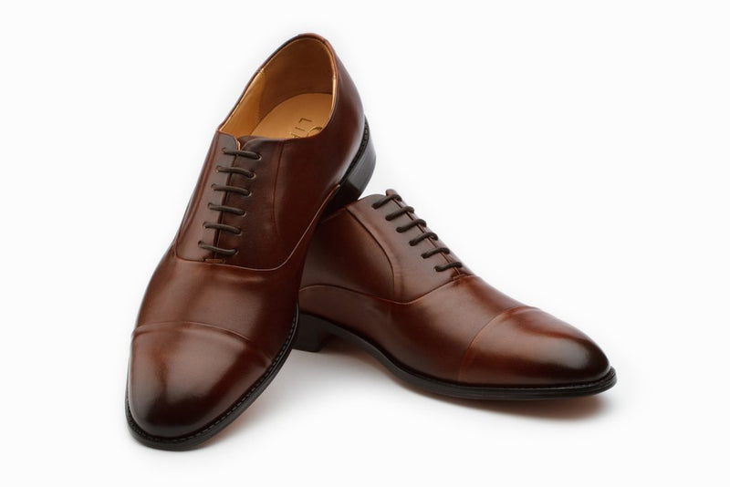 Pleated Oxford - Brown