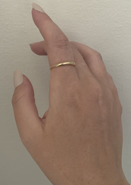14k slim jerry ring