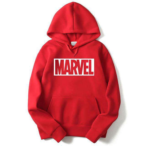 Comics Hoodie - Marvel Wopilix Red And White M