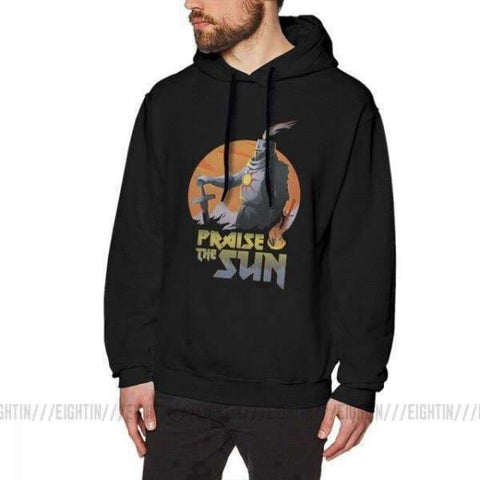 Dark Souls Hoodie - Praise The Sun Wopilix Black M