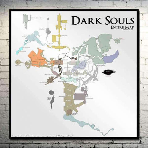 Dark Souls Poster - Entire Map Wopilix