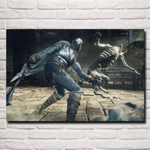 Dark Souls Poster - Fight Skull
