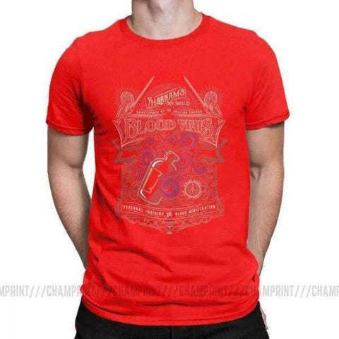 Dark Souls T-Shirt - Blood Vials Wopilix Red S