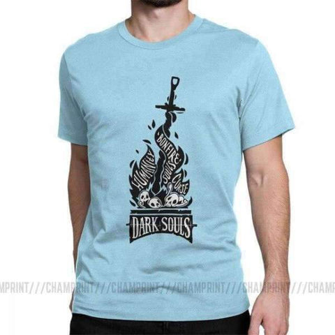 Dark Souls T Shirt - Bonfire Wopilix Sky blue 5XL
