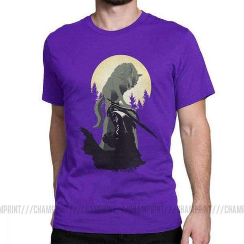 Dark Souls T-Shirt - Knight Artorias And Sif Wopilix Purple S