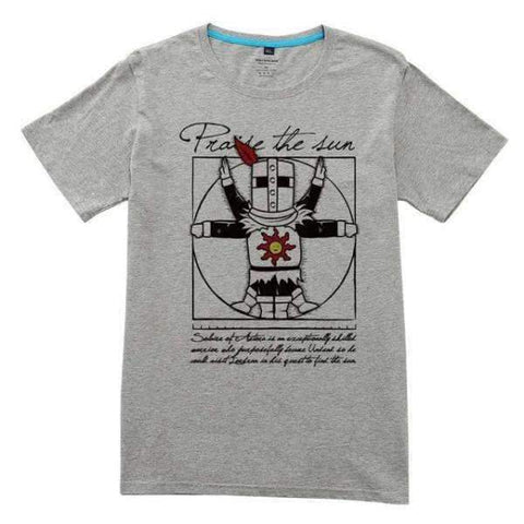 Dark Souls T-Shirt | Praise the Sun Forever Wopilix Grey S