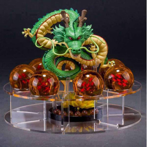 Dragon Ball Z Figurine - Shenlong + Crystal balls + Shelf brinquedos Wopilix
