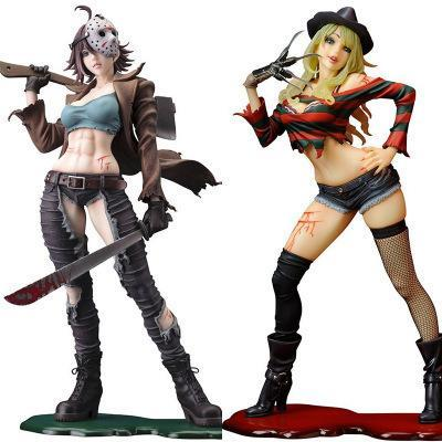 Figurine Horror - Lady Freddy Krueger & Jason Wopilix