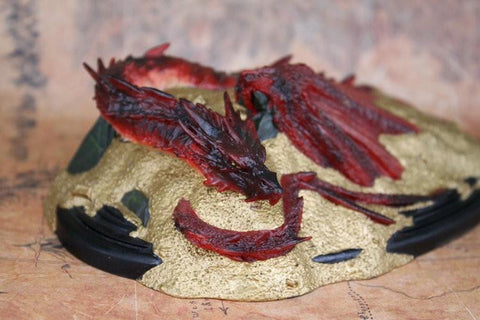 Figurine Lord of the Rings - Dragon Smaug (Résin) Wopilix colored