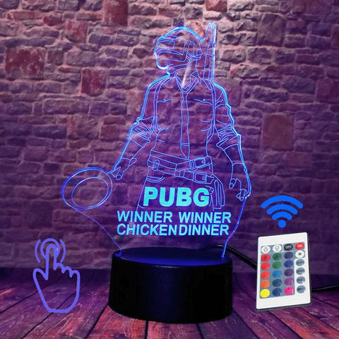 PUBG 3D Light - Winner Chicken Dinner Wopilix